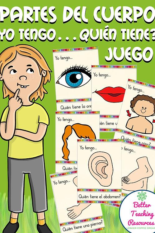 El Cuerpo - Körperteile Spiel Spanisch (juego de vocabulario) PDF