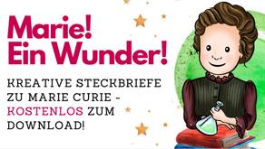 Marie Curie - kostenloser Steckbrief für die Grundschule und Sekundarstufe 1