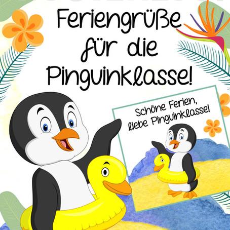 Kostenlose Feriengrüße für die Pinguinklasse