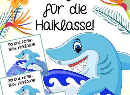 Feriengrüße für die Haiklasse