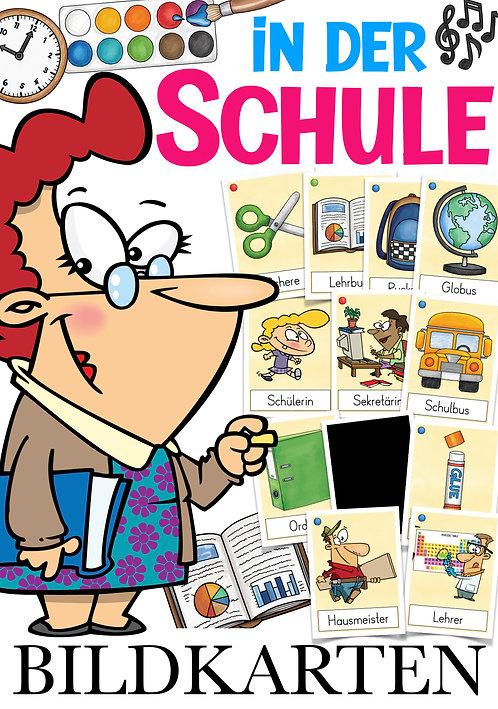 Schule / Schulsachen Bildkarten DAZ und Deutsch in der Grundschule 1. Klasse