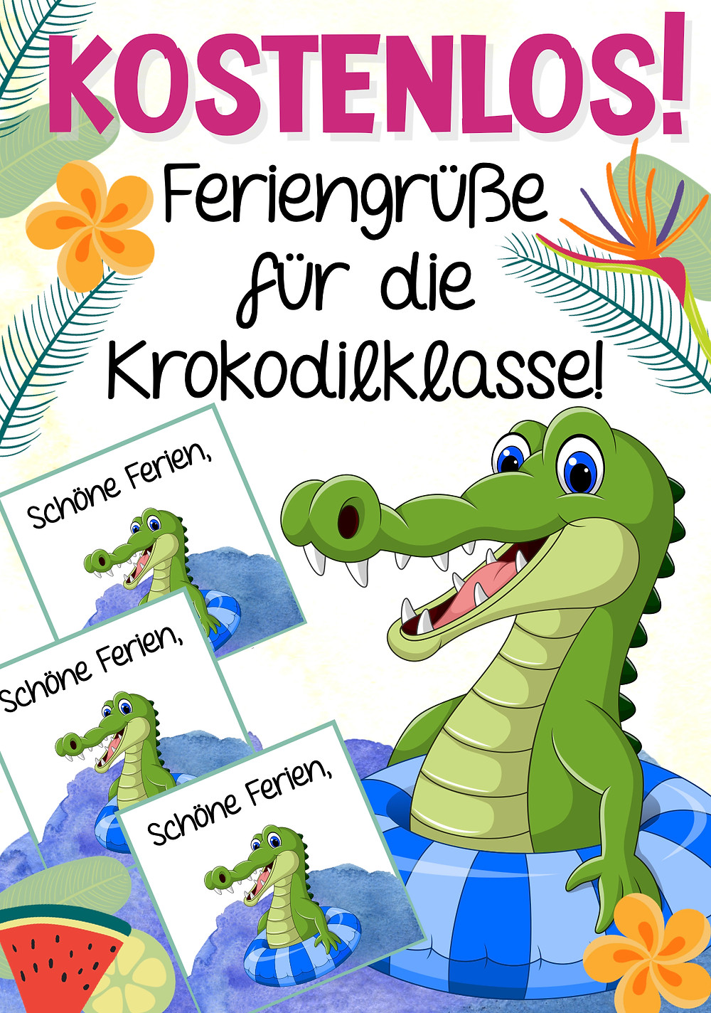 Kostenlos für die Krokodilklasse Download in der Grundschule Krokodil