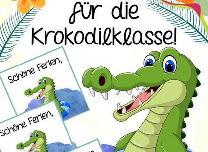 Feriengrüße für die Krokodilklasse