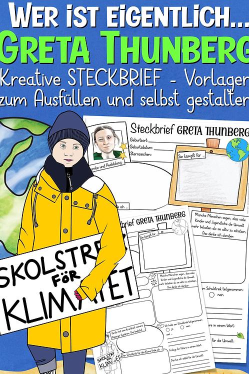 Greta Thunberg Steckbrief (Fridays for Future)