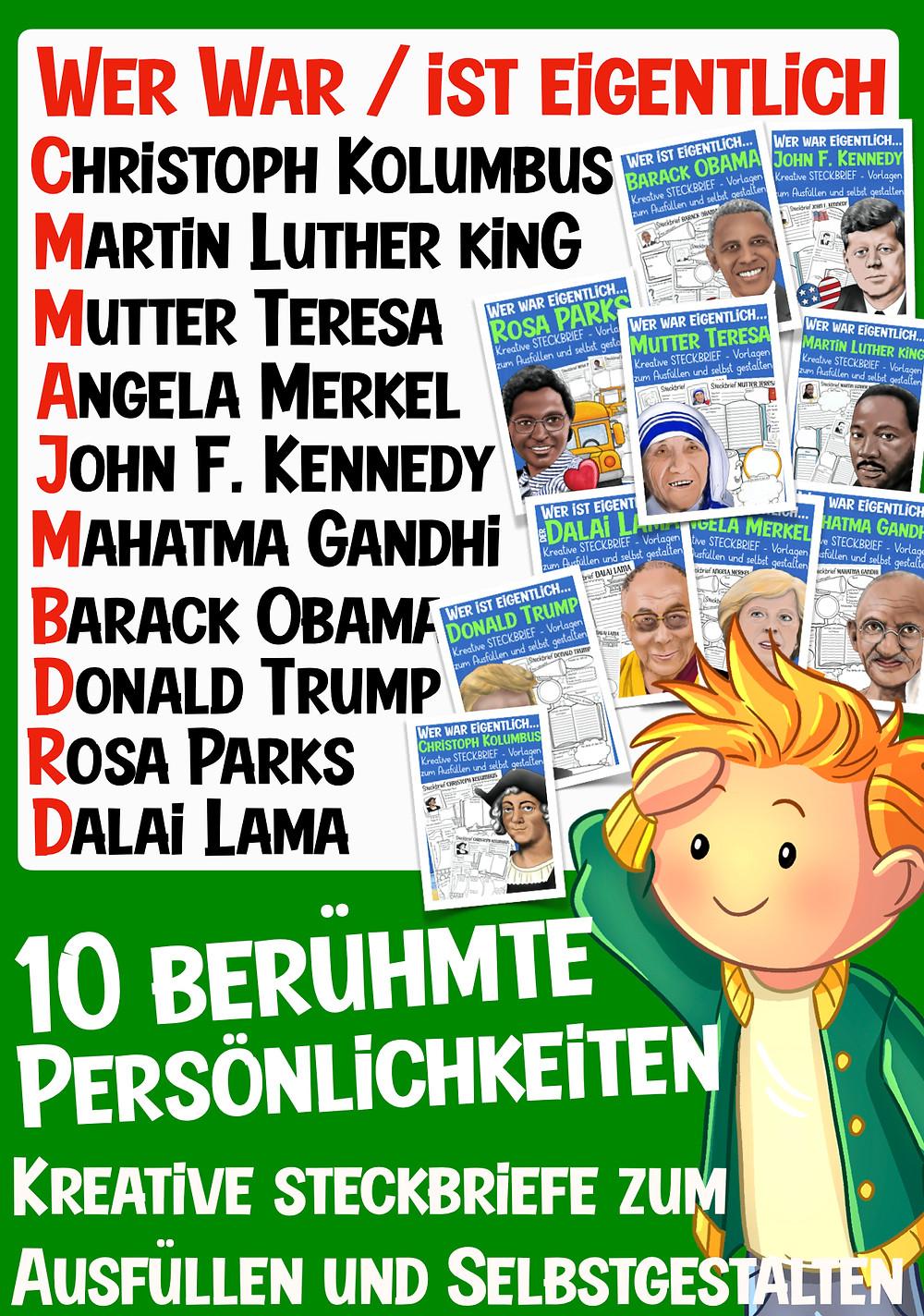 Berühmte Persönlichkeiten der Geschichte in der Grundschule präsentieren