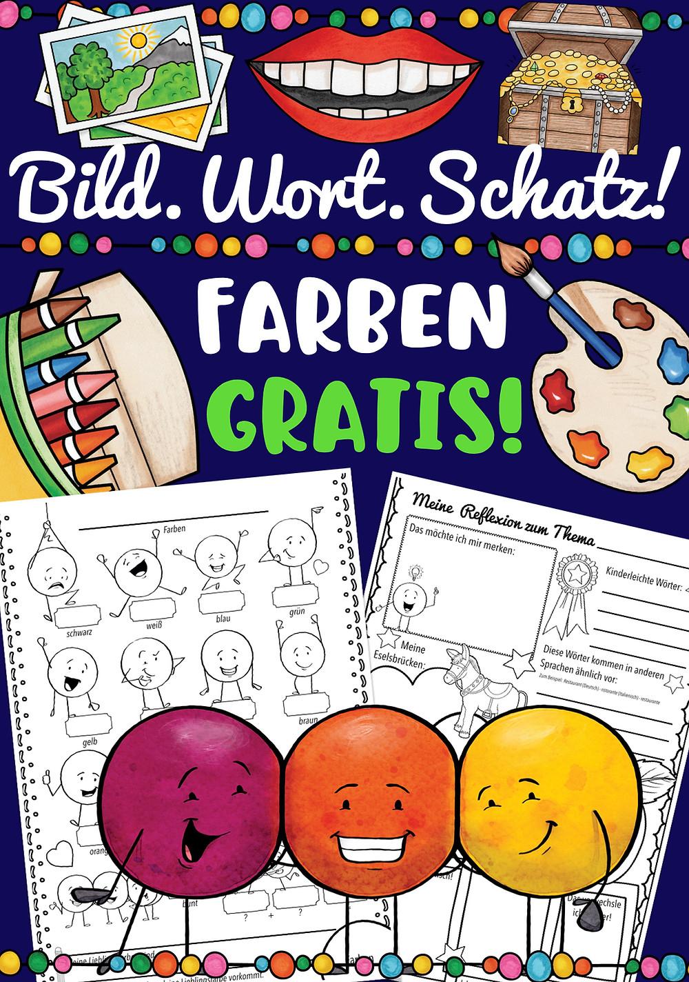 Bildwörterbuch Farben kostenlos - Englisch in der Grundschule