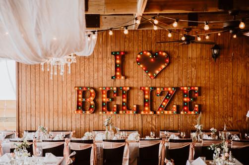 I love Belize SIGN WEDDING
