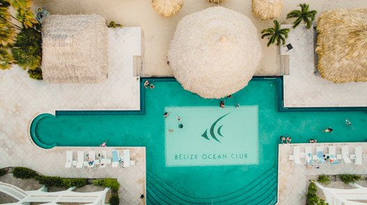 Hotel Drone Photography Belize Ocean Club