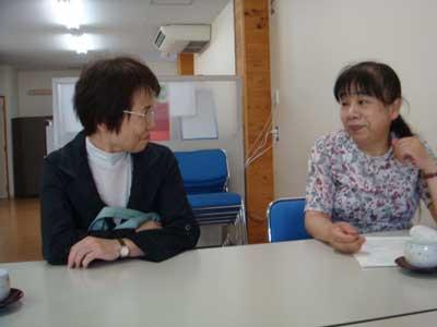 センター長の竹島和賀子さんと徳島の山下さん