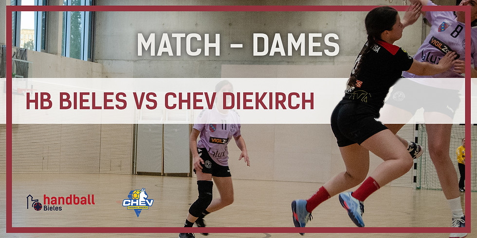 Match: Handball Bieles - CHEV Diekirch (Dammen)