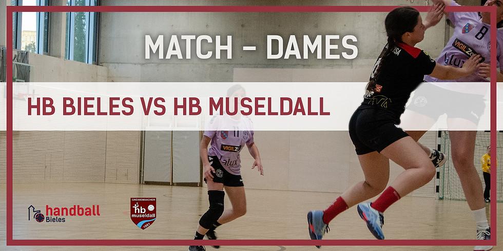Match: Handball Bieles - HB Museldall (Dammen)