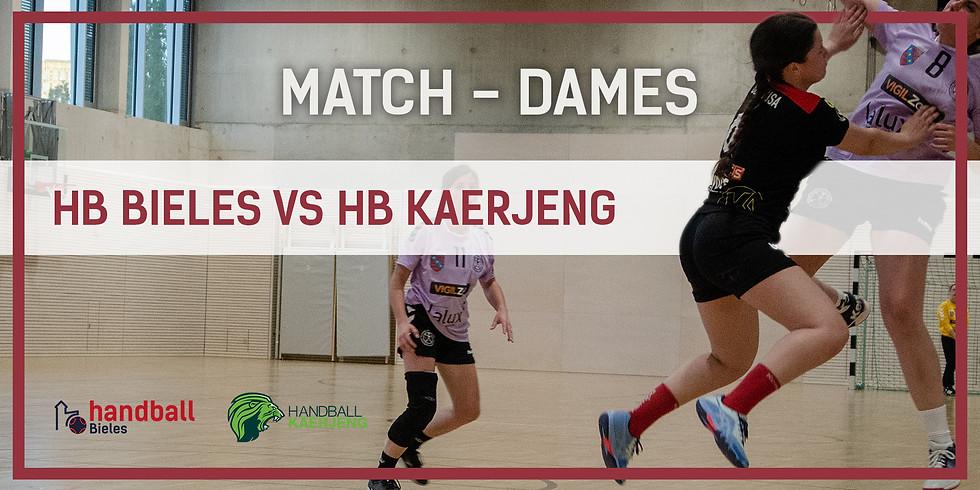 Match: Handball Bieles - HB Kaerjeng (Dammen)