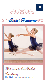 Podiumkunsten website templates – Balletstudio