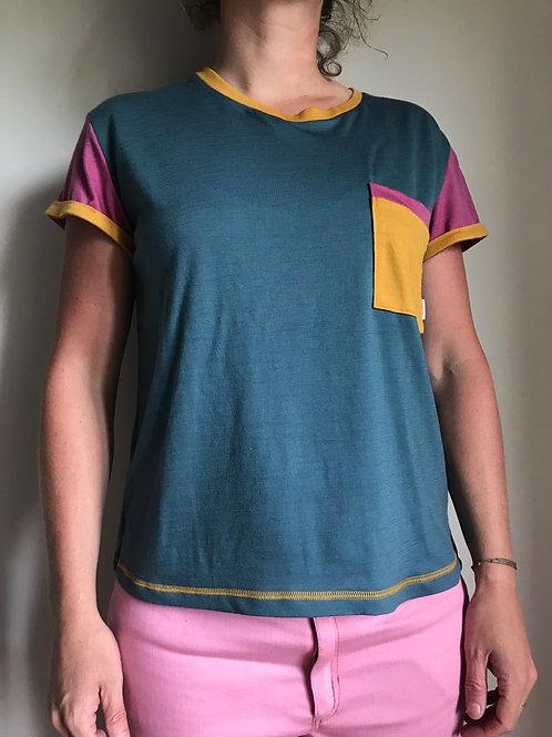 "T-shirt manches courtes, merinos, 'colors"""