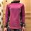"Thumbnail: T-shirt technique merinos femme ""Flowers"""