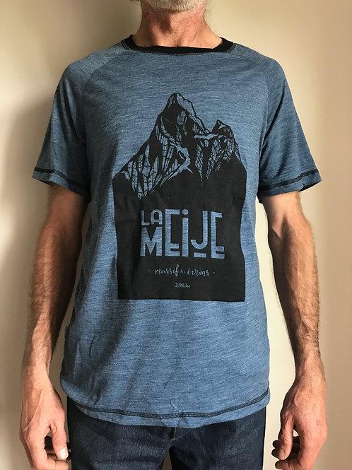 """T-shirt manches courtes, merinos, """"La Meije"""""""