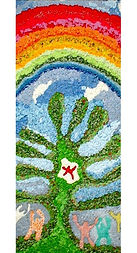 2002年かんでんコラボアート21優秀賞受賞作品「たくさんの愛につつまれて」