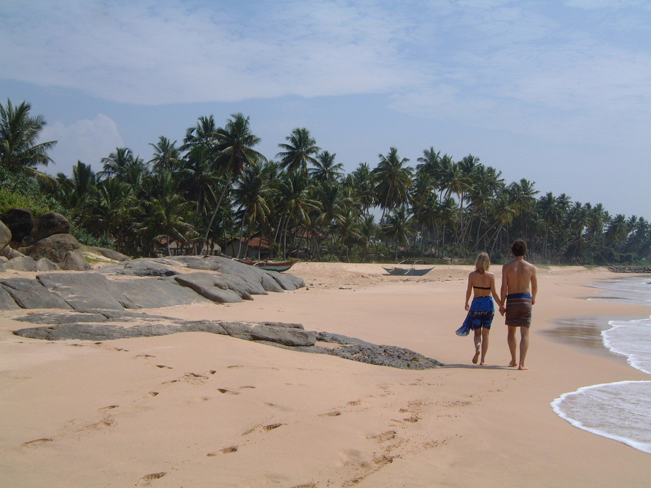Sri Lanka relaxing vacation or honeymoon on the beach. Beautiful sands and weather.