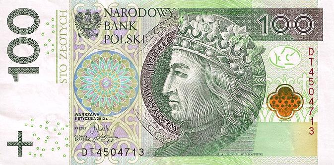 Poland 2012, Narodowy Bank Polski, 100 Zlotych, *DT*, P-186