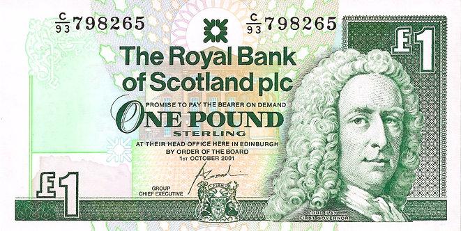 Scotland 2001, RBS, 1 Pound, Goodwin, Prefix *C/93*, P-351e