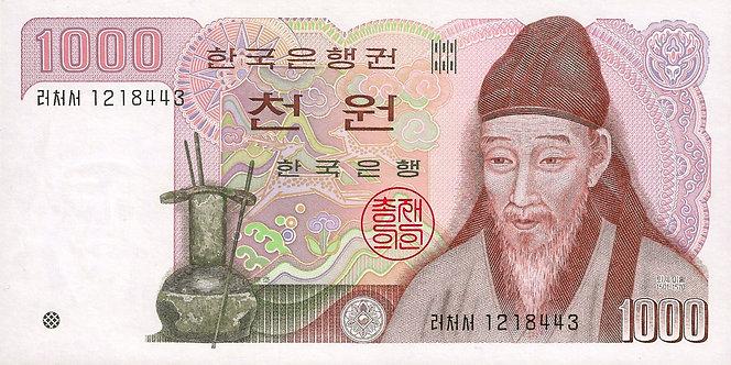 South Korea ND (1983), Bank of Korea, 1000 Won, P-47