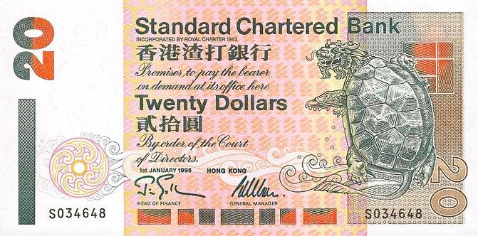 Hong Kong 1995, Standard Chartered Bank, 20 Dollars, *S*, P285b