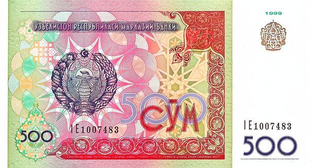 Uzbekistan, 500 Som, 1999, P-81