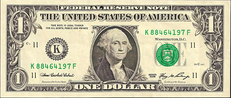 USA, Federal Reserve System, 1 Dollar, 2006, *K*, P-523