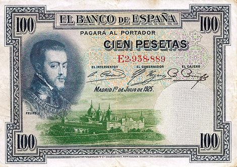 Spain 1925, Banco de España, 100 Pesetas, *E*, P-69c(1)