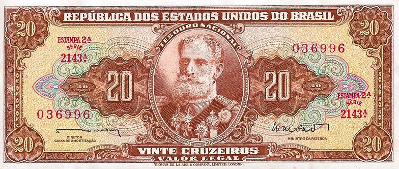 Brazil ND (1962), Tesouro Nacional,  20 Cruzeiros, P-178