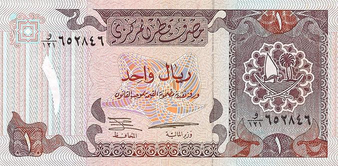 Qatar ND (1996), Qatar Central Bank, 1 Riyal, P-14