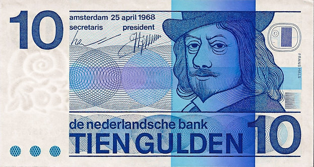 Netherlands 1968, Nederlandsche Bank, 10 Gulden, Johan Enschede, P-91b