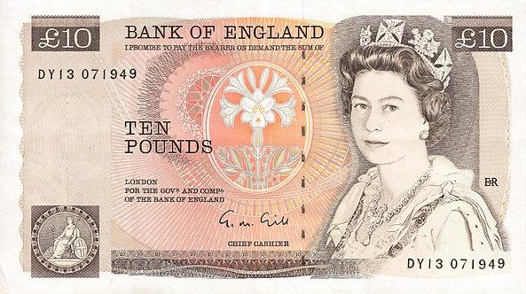 Bank of England, 10 pounds, Gill, Prefix *DY*, P-379e