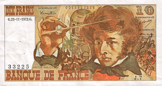 France 1972, Banque de France, 10, Francs, P-150a