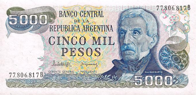 Argentina ND (1977-1983) , 5000 Pesos, P-305b(2)