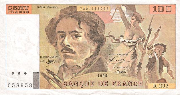 France 1995, Banque de France, 100, Francs, P-154h