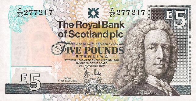 Scotland 2010, RBS, 5 Pounds, Hester, *C25*, P-352