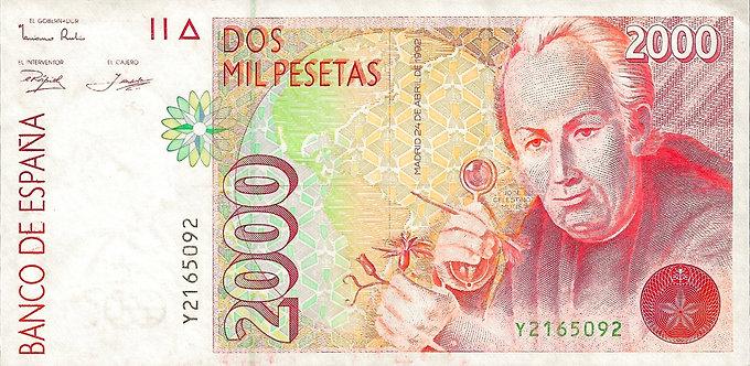 Spain 1992, Banco de España, 2000 Pesetas, *Y*, P-162