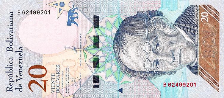 Venezuela 2018, Banco Central de Venezuela, 20 Bolivares,*B*, P-104