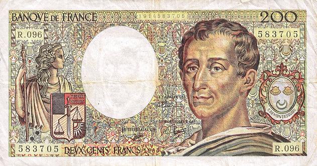 France 1990, Banque de France, 200 Francs, P-155d