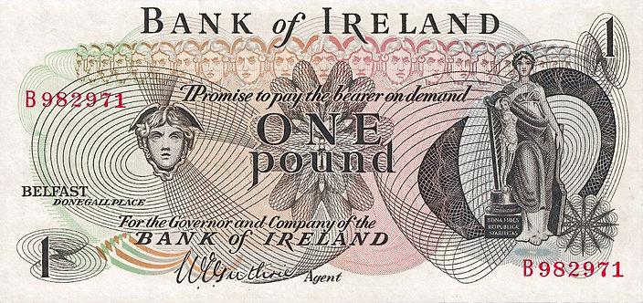 Northern Ireland ND(1967), Bank of Ireland, 1 Pound, *B*, W.E.Guthrie, P-56