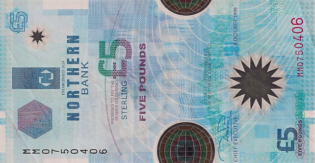 Northern Ireland 1999, Northern Bank, 5 pounds , *MM*, P-203a