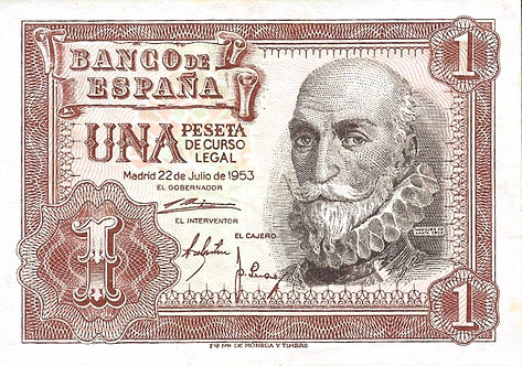Spain 1953, Banco de España, 1 Peseta, P-144