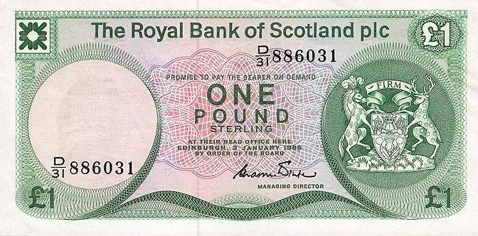 Scotland 1985, RBS, 1 Pound, *D/31*, C.R.Winter, P-341b