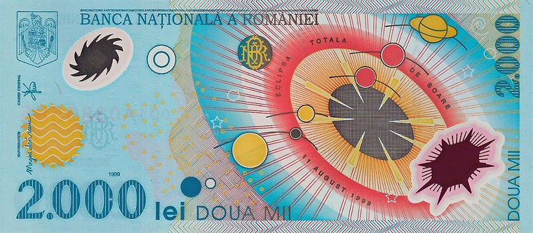 Romania 1999, 2000 Lei, Polymer, *001A*,  P-111