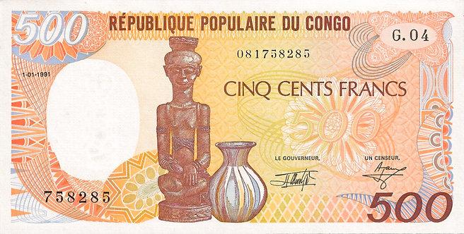 Congo Republic 1991, 500 Francs, P-8d