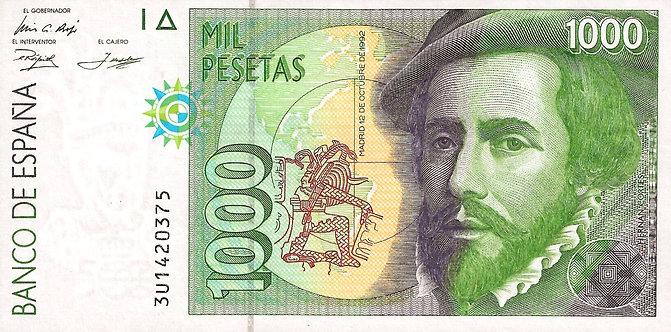Spain 1992, Banco de España, !000 Pesetas, P-163