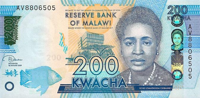 Malawi 2019, Reserve Bank of Malawi, 200 Kwacha, *AV*, P-60