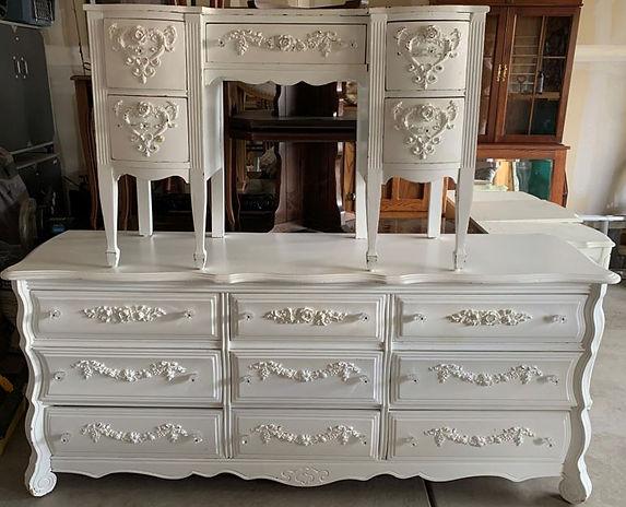 Large Dresser and Desk