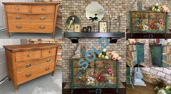 Floral Bird Dresser